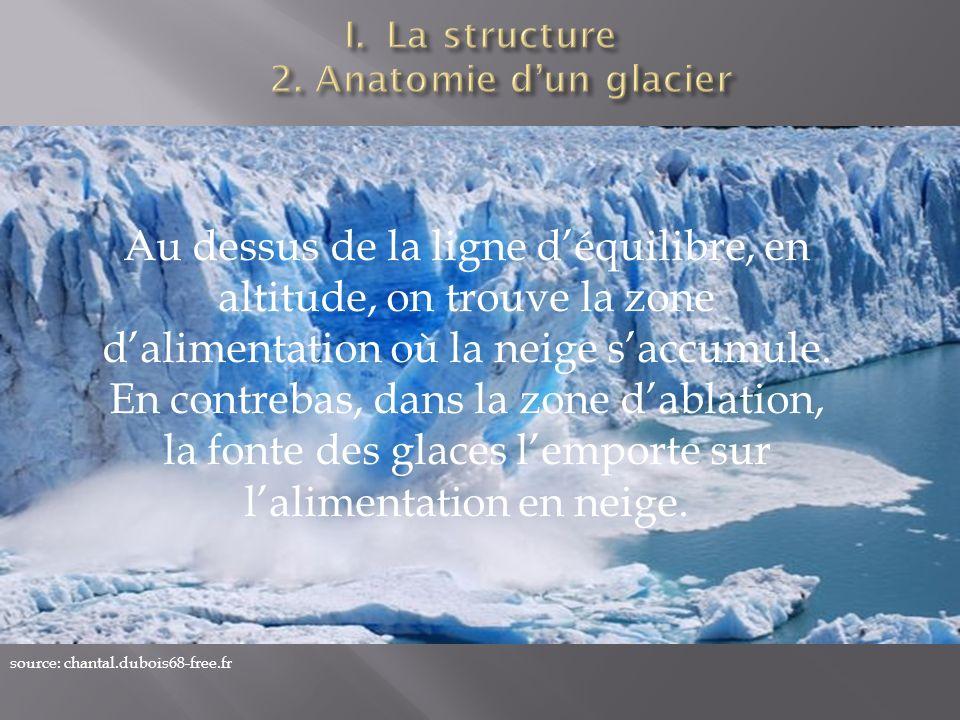 La structure 2. Anatomie d'un glacier