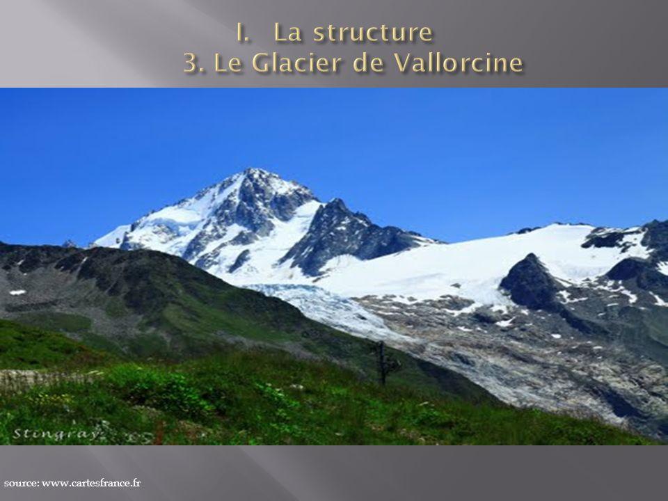 La structure 3. Le Glacier de Vallorcine