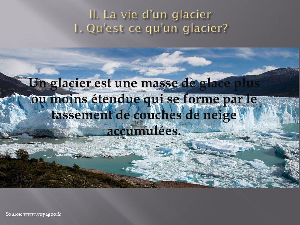 ll. La vie d'un glacier 1. Qu'est ce qu'un glacier