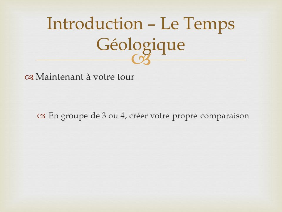 Introduction – Le Temps Géologique