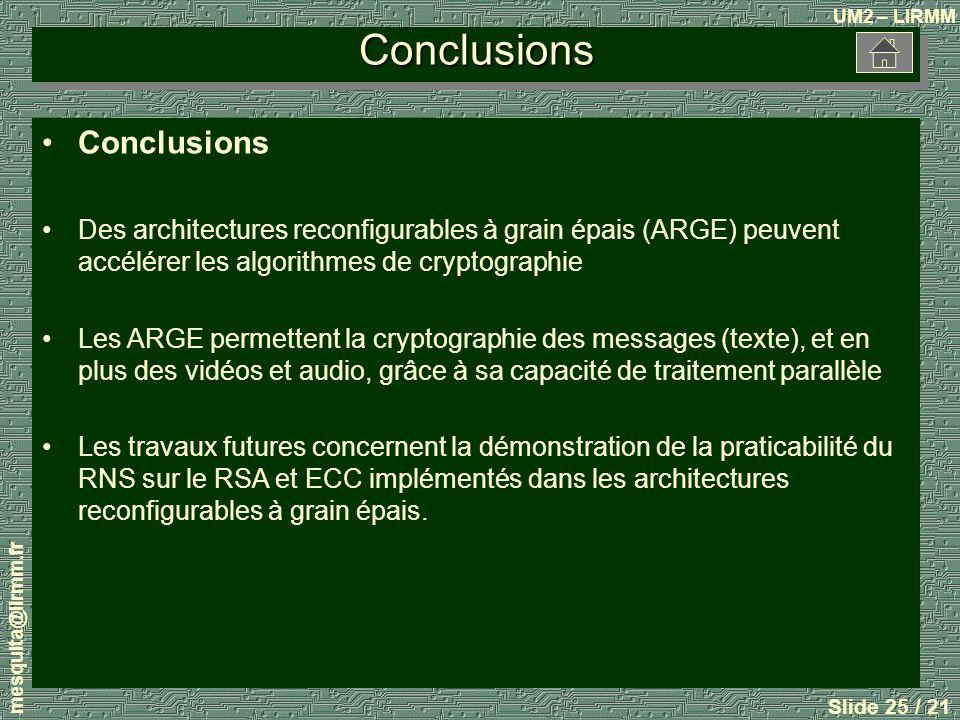 Conclusions Conclusions