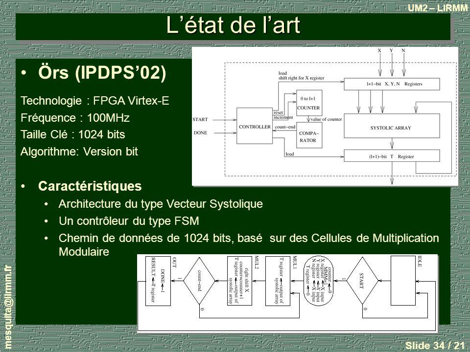 L'état de l'art Örs (IPDPS'02) Caractéristiques