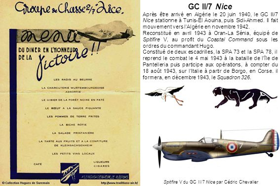 Spitfire V du GC II/7 Nice par Cédric Chevalier