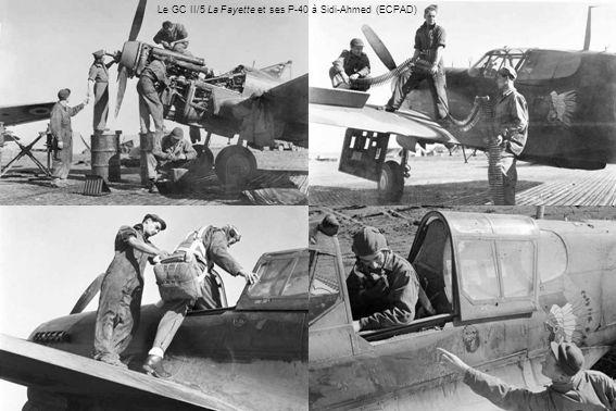 Le GC II/5 La Fayette et ses P-40 à Sidi-Ahmed (ECPAD)