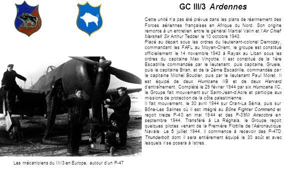 Les mécaniciens du III/3 en Europe, autour d'un P-47