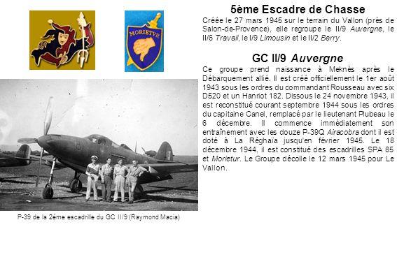 P-39 de la 2ème escadrille du GC II/9 (Raymond Macia)
