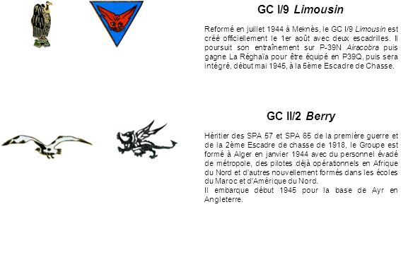 GC I/9 Limousin GC II/2 Berry