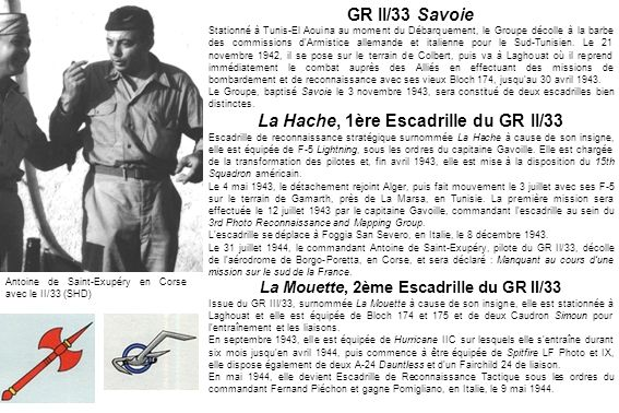 GR II/33 Savoie La Hache, 1ère Escadrille du GR II/33