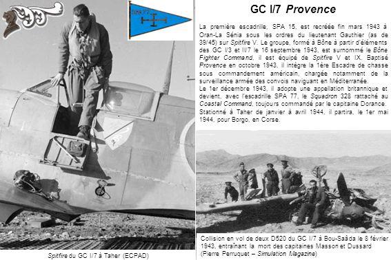 Spitfire du GC I/7 à Taher (ECPAD)