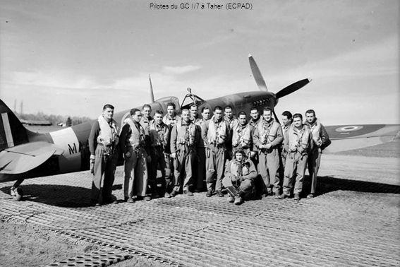 Pilotes du GC I/7 à Taher (ECPAD)