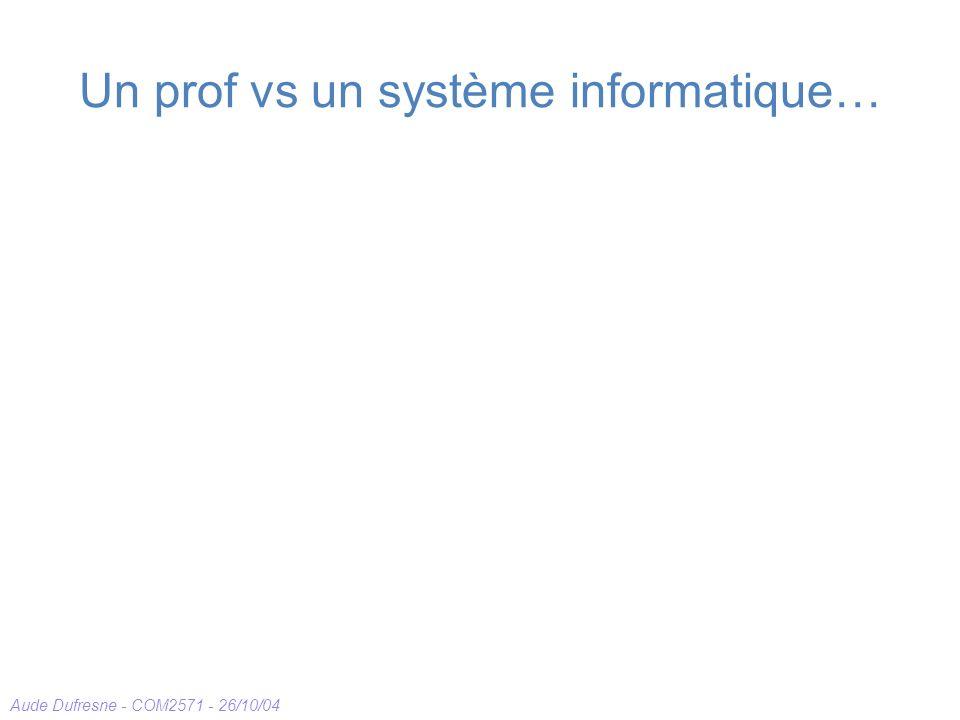 Un prof vs un système informatique…