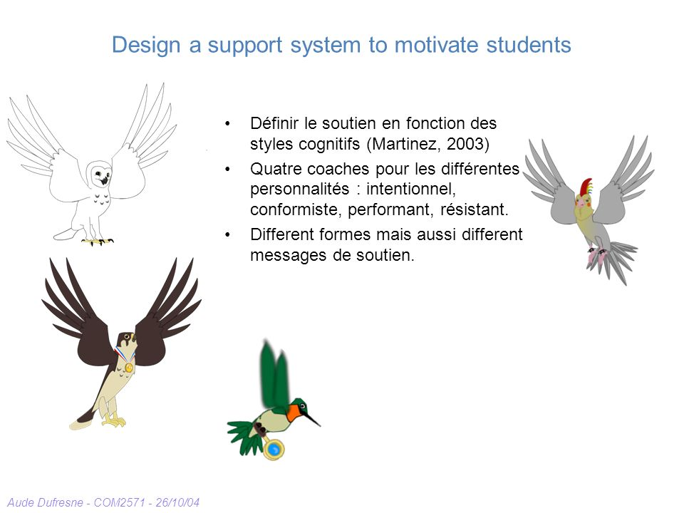 Design a support system to motivate students