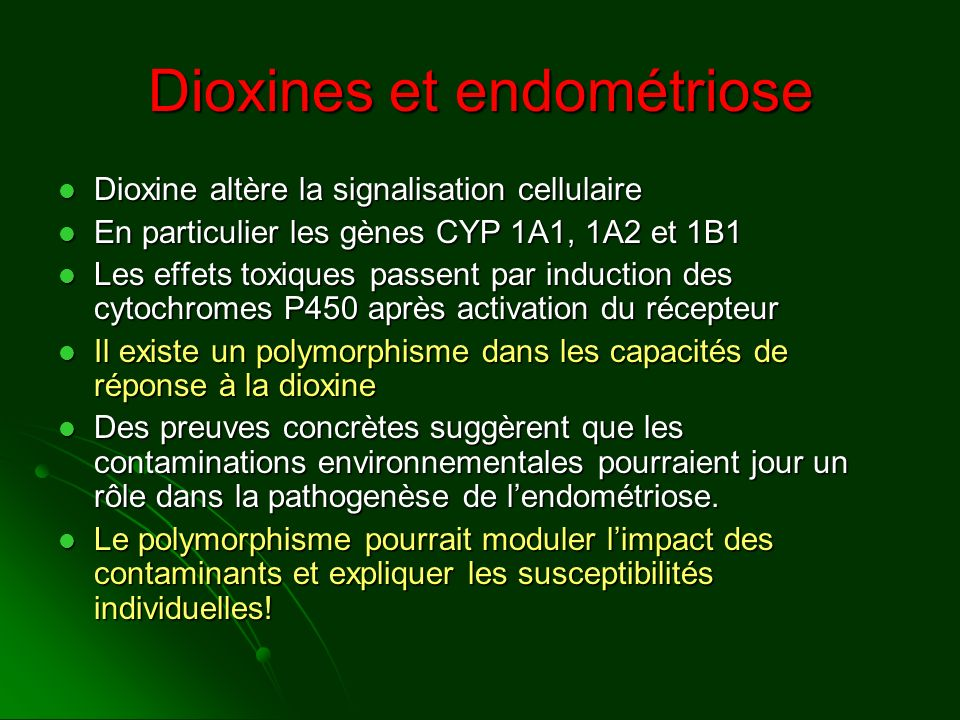 Dioxines et endométriose
