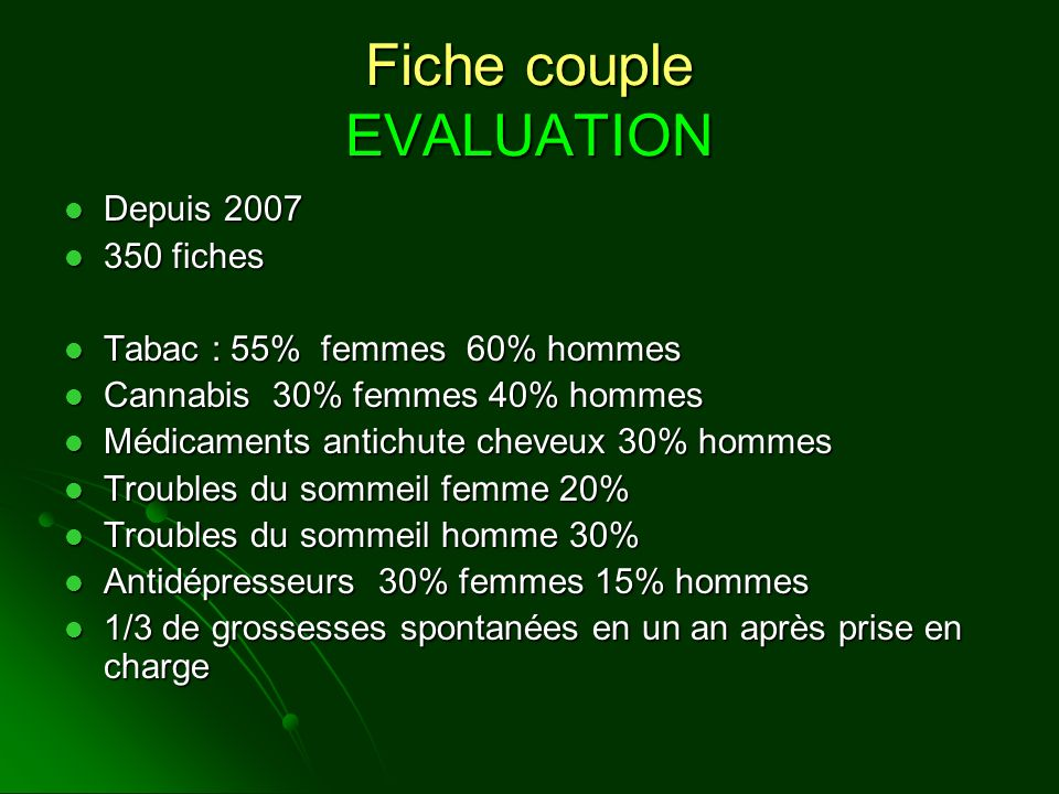 Fiche couple EVALUATION