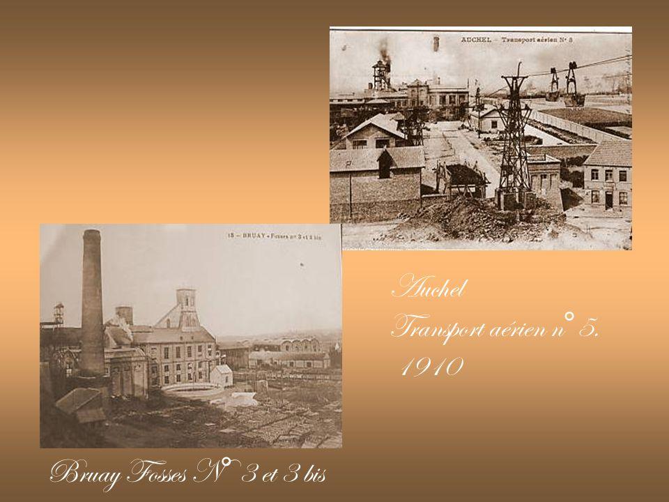 Auchel Transport aérien n°5. 1910 Bruay Fosses N° 3 et 3 bis
