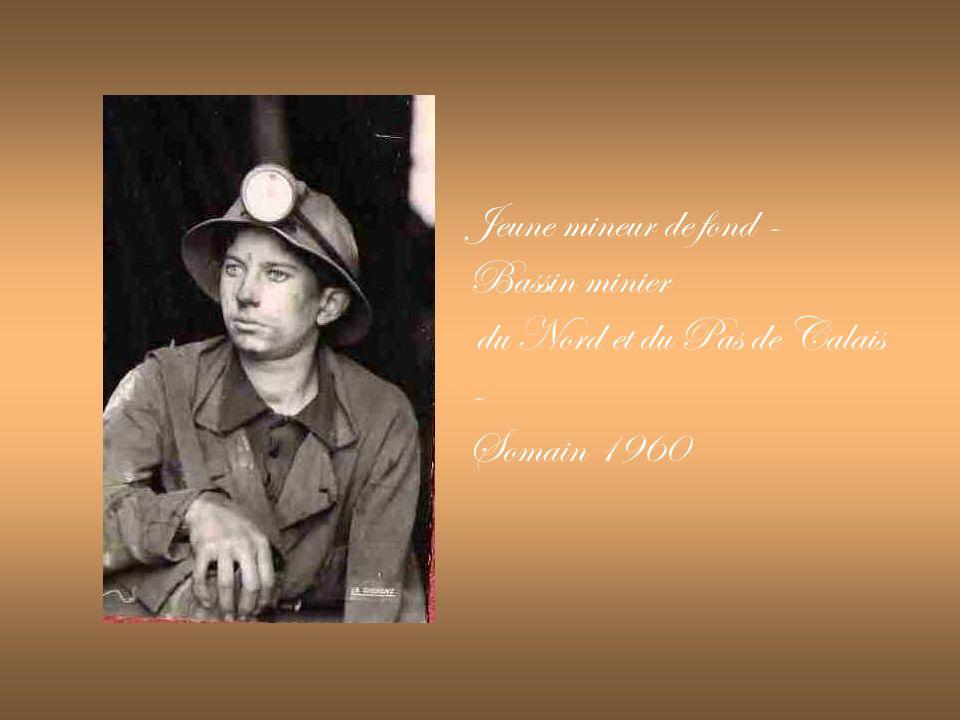 Jeune mineur de fond - Bassin minier du Nord et du Pas de Calais - Somain 1960