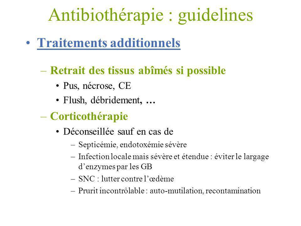 Antibiothérapie : guidelines