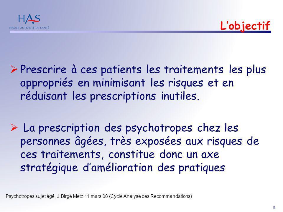 L'objectif Prescrire à ces patients les traitements les plus appropriés en minimisant les risques et en réduisant les prescriptions inutiles.