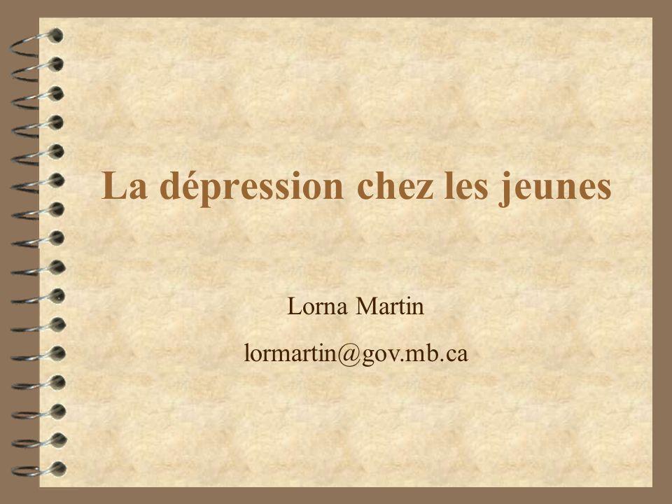 La dépression chez les jeunes