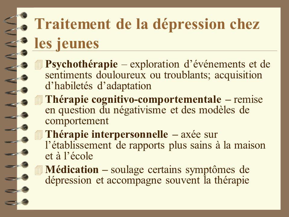 Traitement de la dépression chez les jeunes
