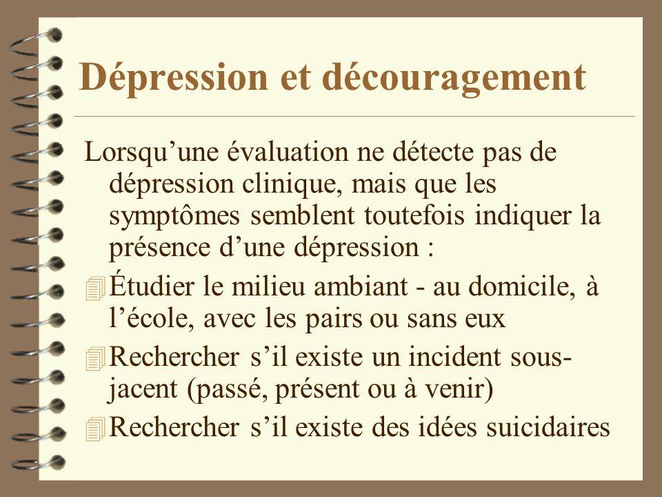 Dépression et découragement