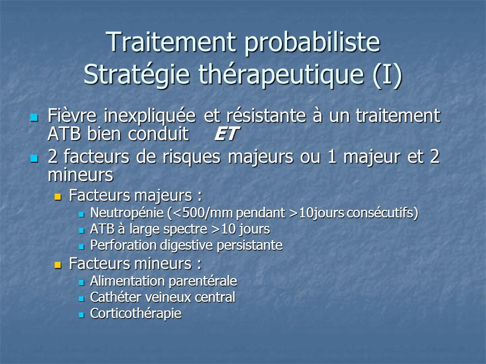 Traitement probabiliste Stratégie thérapeutique (I)