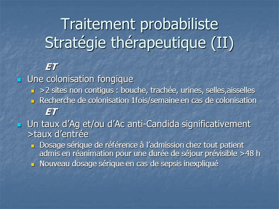 Traitement probabiliste Stratégie thérapeutique (II)
