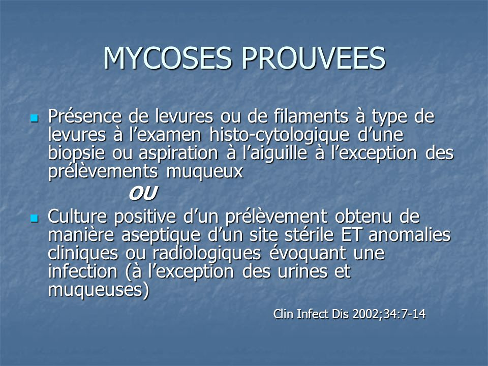 MYCOSES PROUVEES