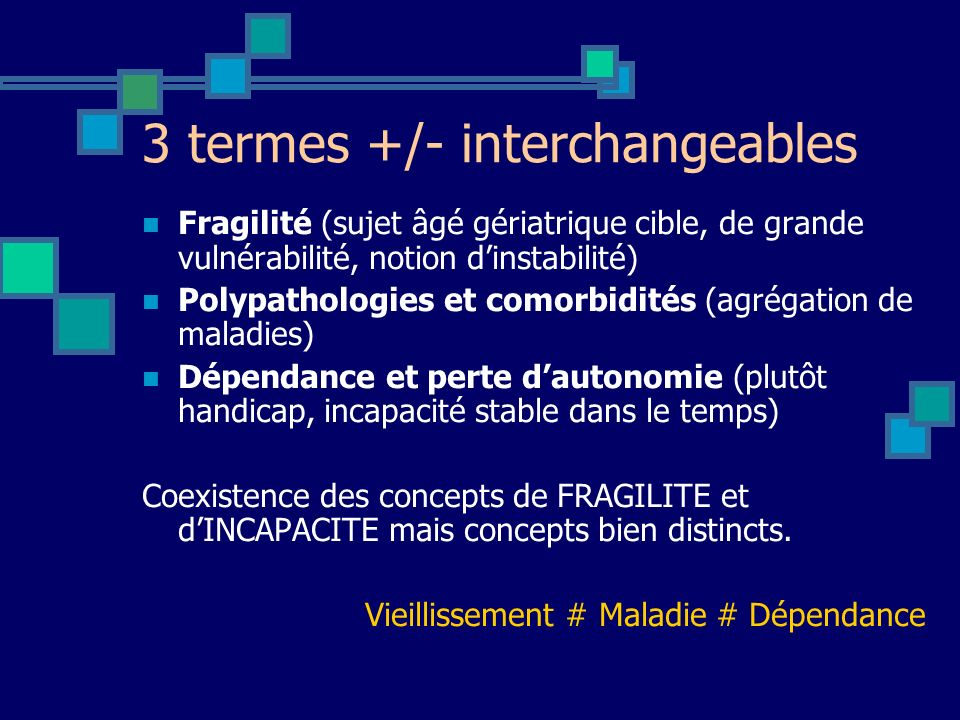 3 termes +/- interchangeables
