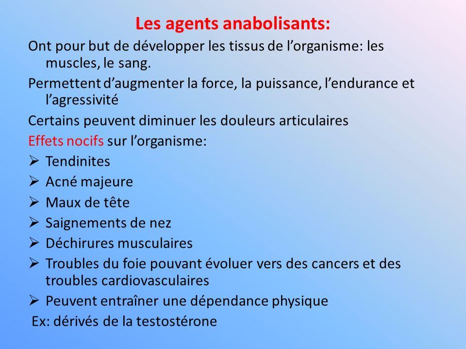Les agents anabolisants: