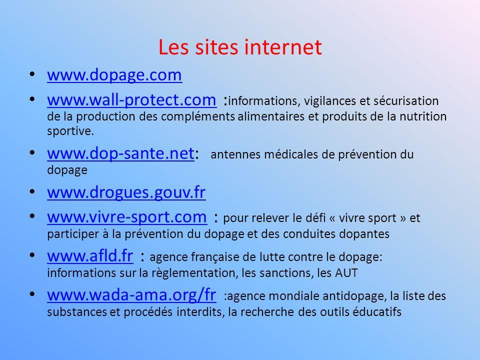 Les sites internet www.dopage.com