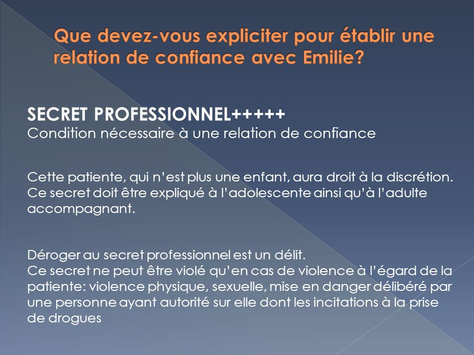 SECRET PROFESSIONNEL+++++
