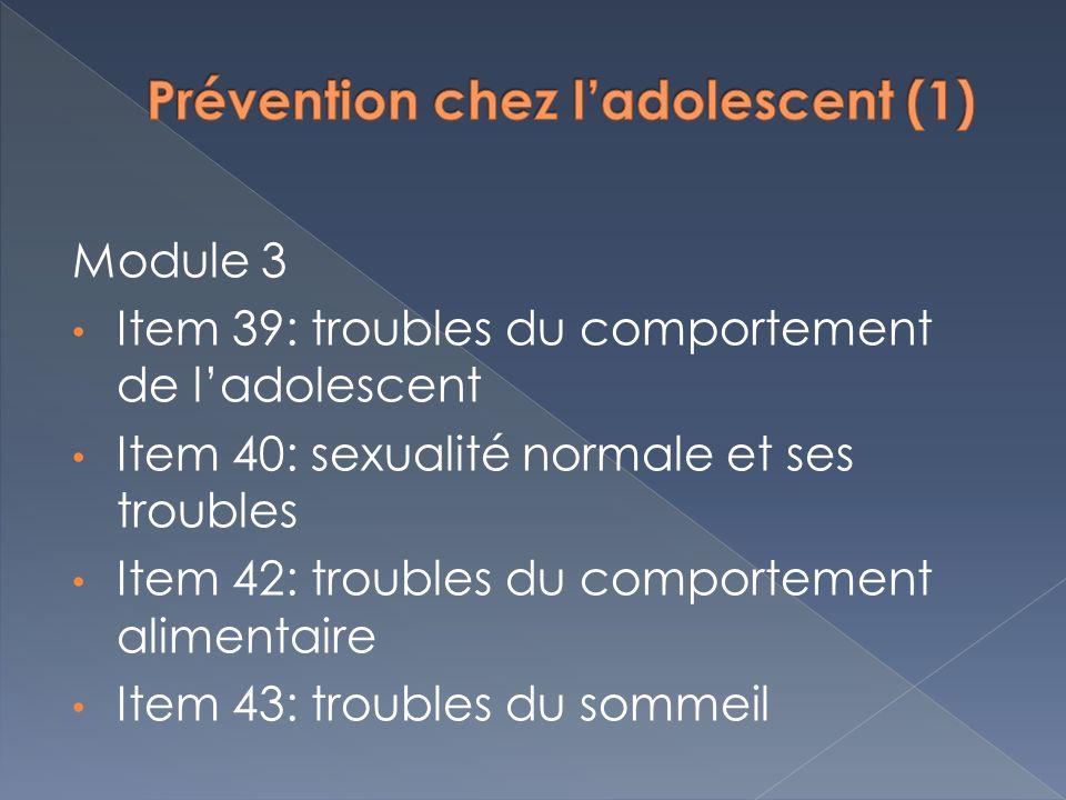 Prévention chez l'adolescent (1)