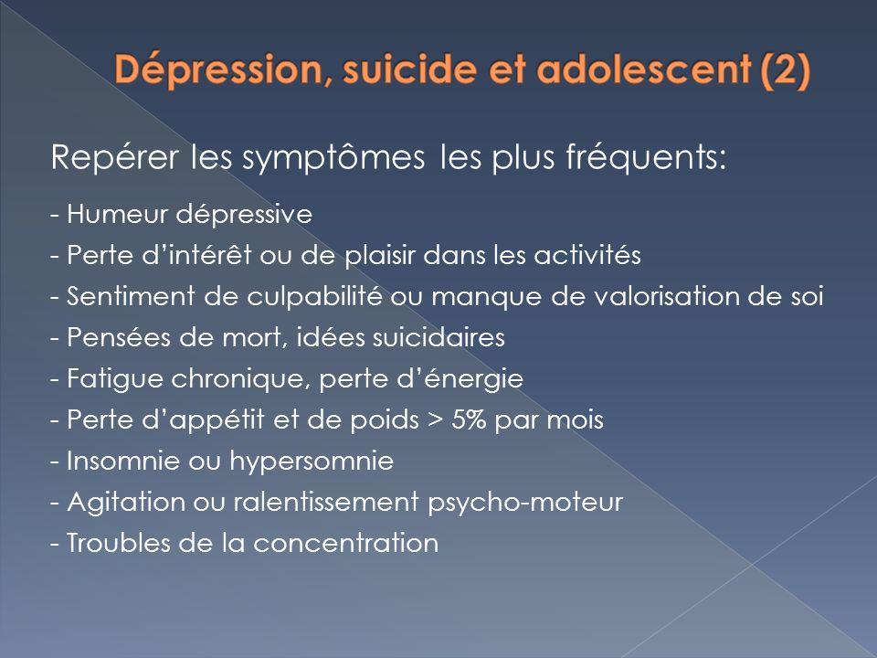Dépression, suicide et adolescent (2)