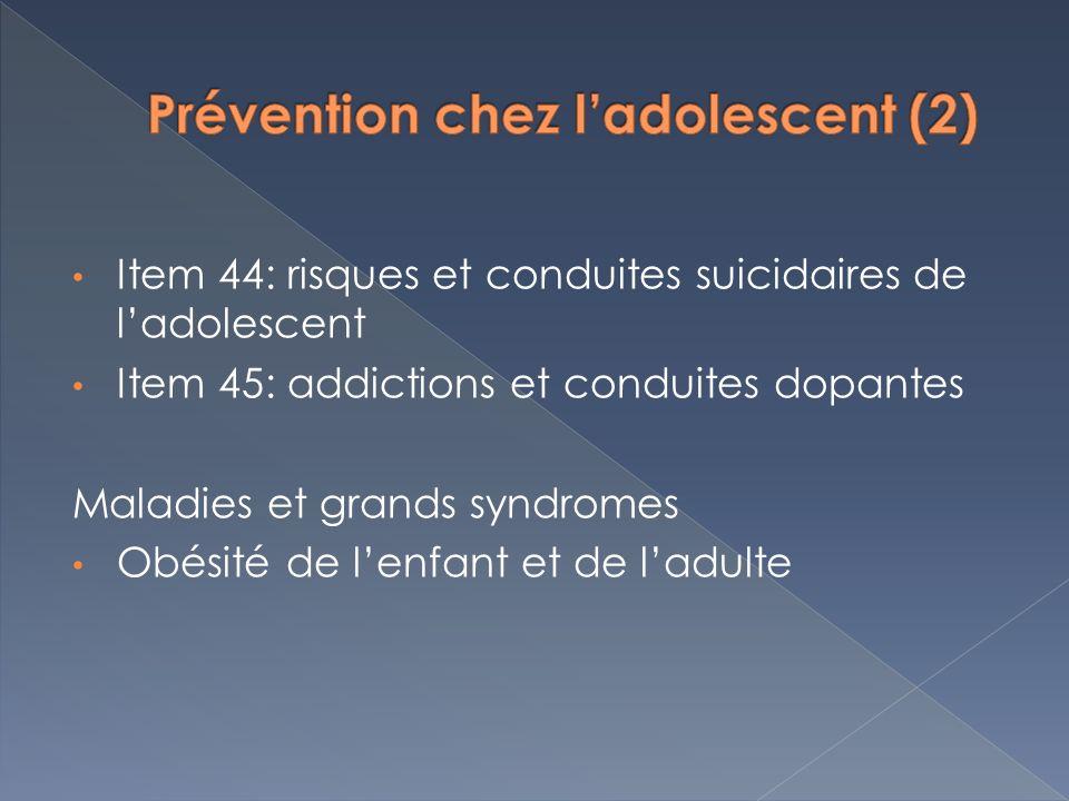 Prévention chez l'adolescent (2)