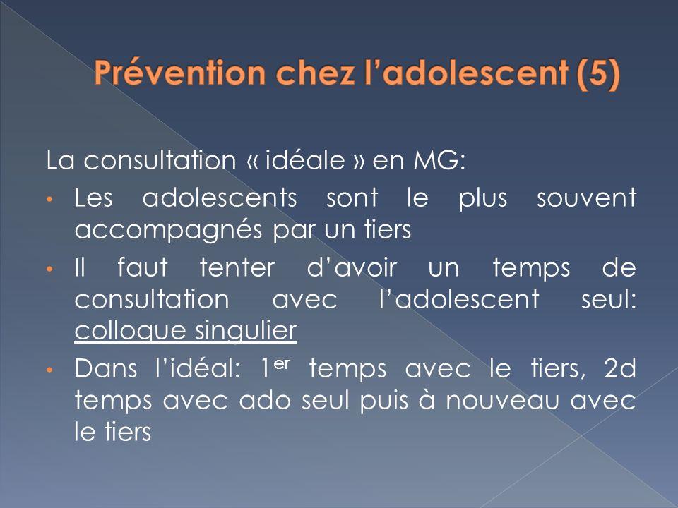Prévention chez l'adolescent (5)