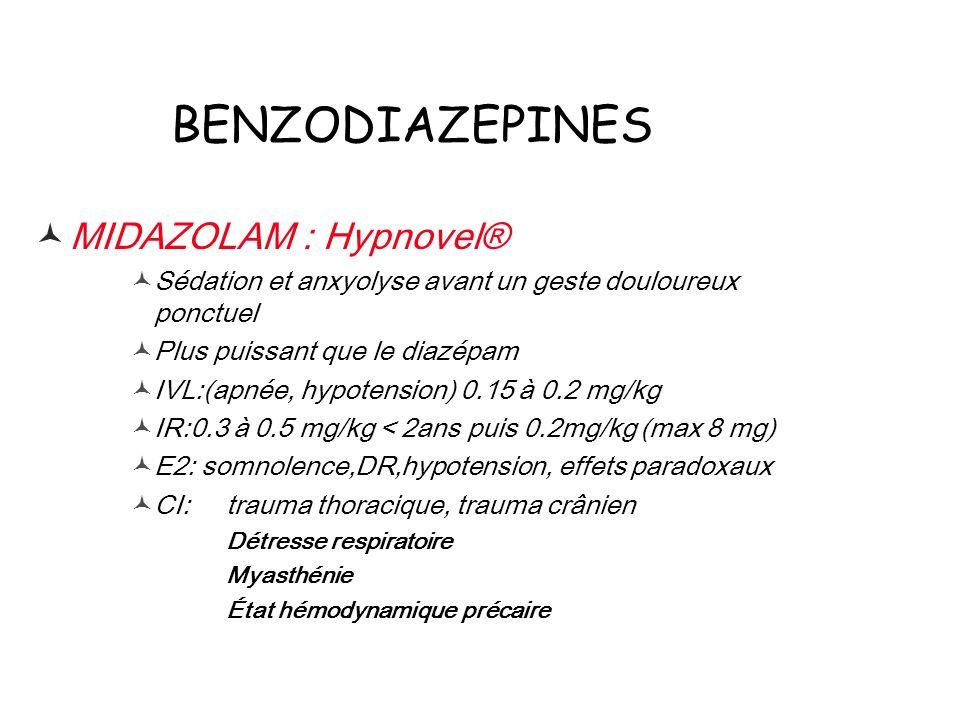 BENZODIAZEPINES MIDAZOLAM : Hypnovel®