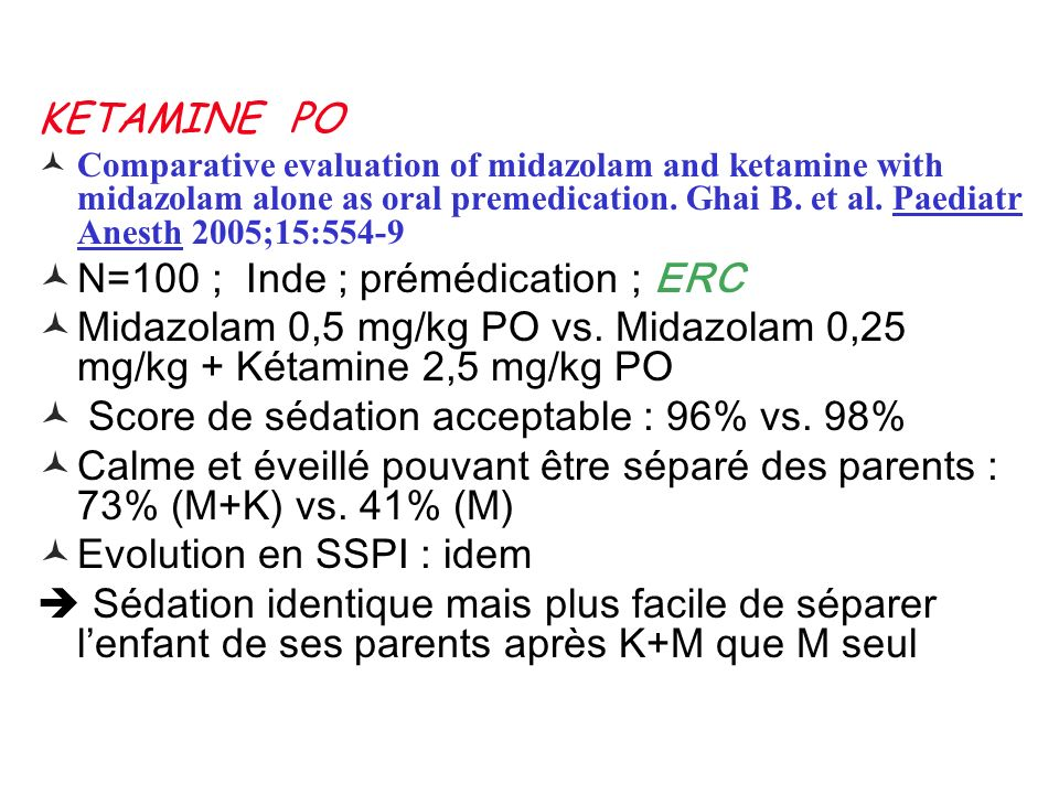 N=100 ; Inde ; prémédication ; ERC