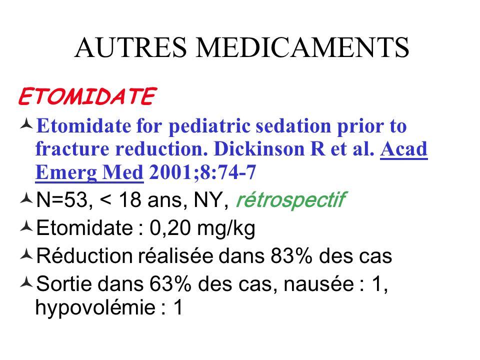 AUTRES MEDICAMENTS ETOMIDATE