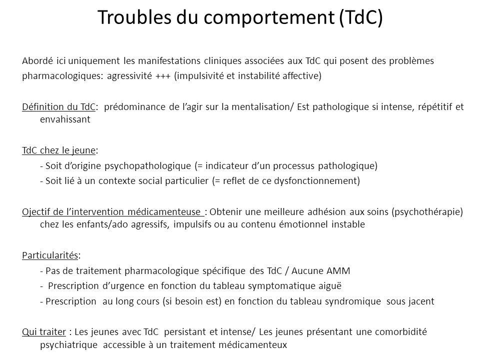 Troubles du comportement (TdC)