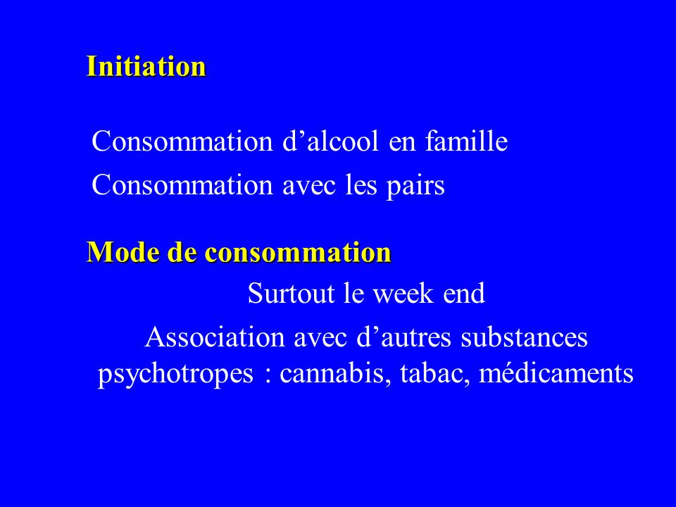 Consommation d'alcool en famille Consommation avec les pairs