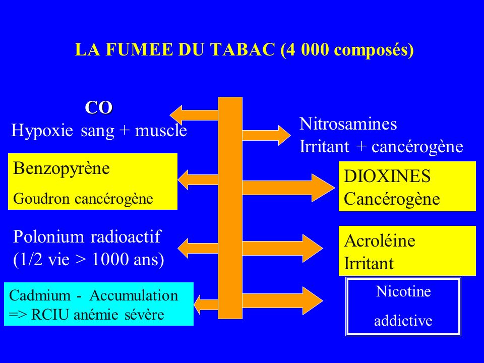 LA FUMEE DU TABAC (4 000 composés)