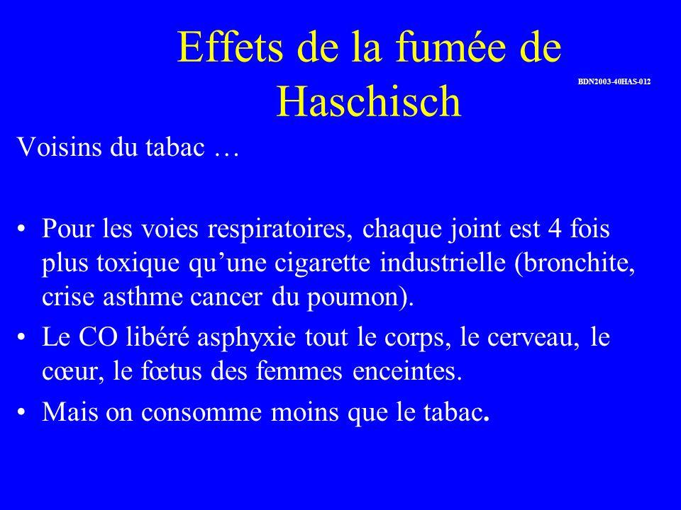 Effets de la fumée de Haschisch