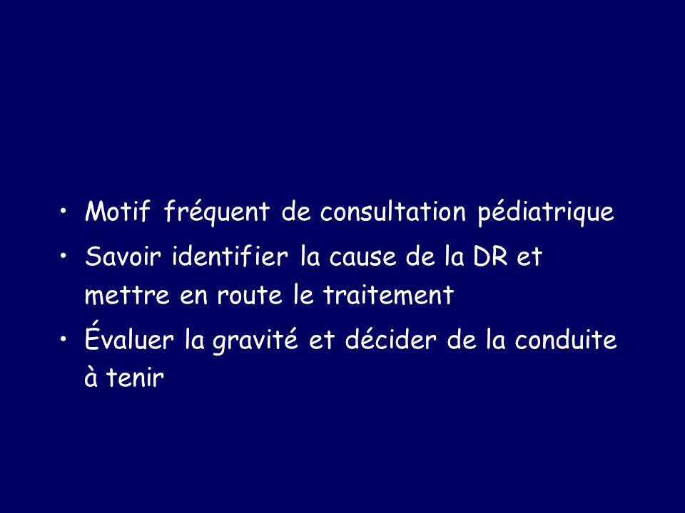 Motif fréquent de consultation pédiatrique