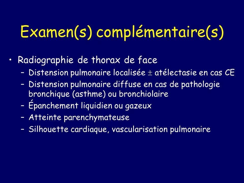 Examen(s) complémentaire(s)