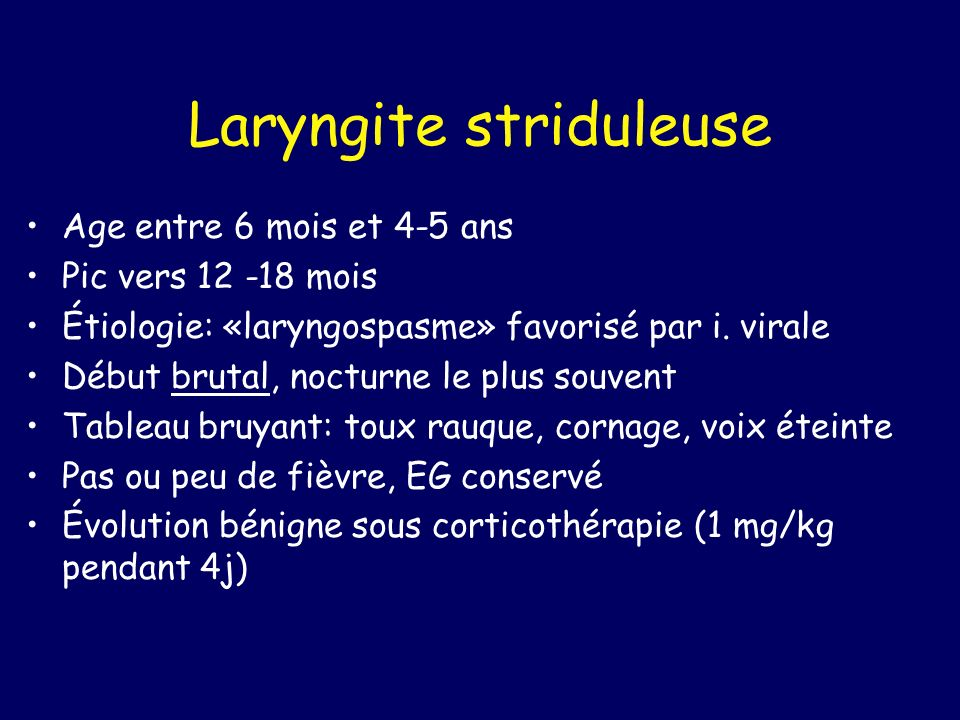 Laryngite striduleuse