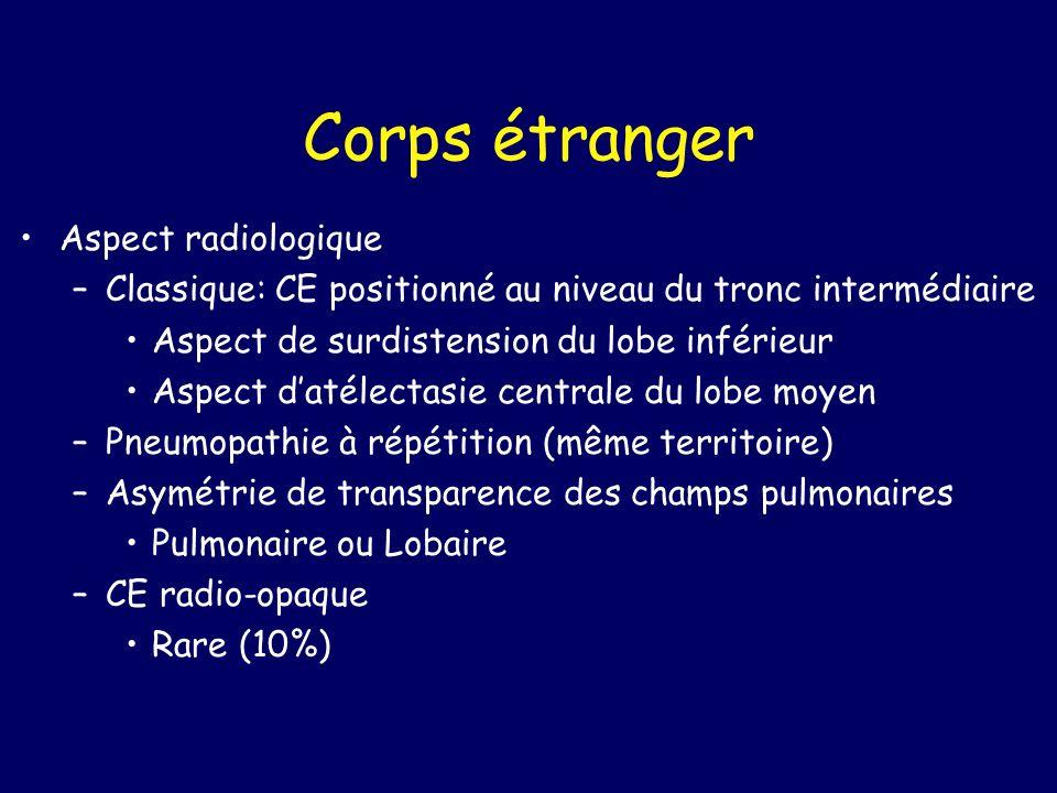 Corps étranger Aspect radiologique