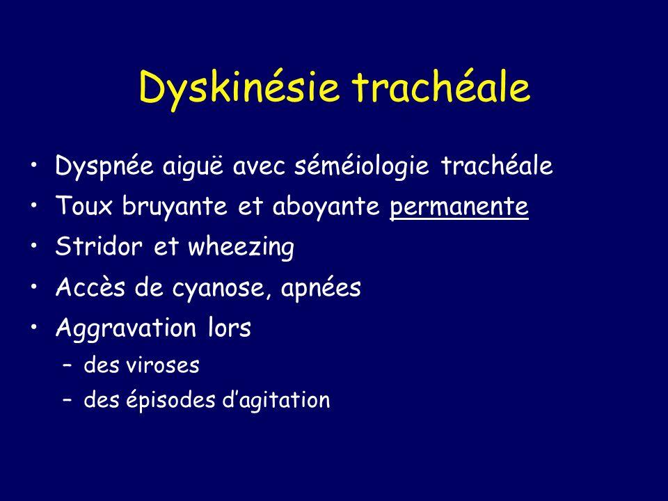 Dyskinésie trachéale Dyspnée aiguë avec séméiologie trachéale