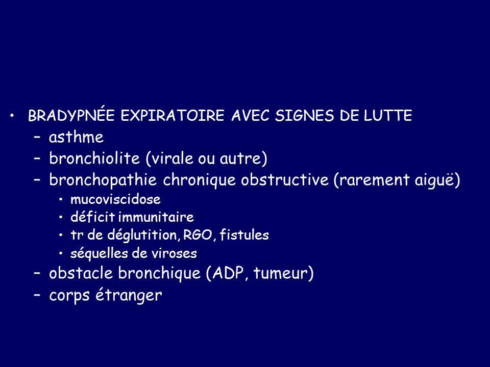 bronchiolite (virale ou autre)