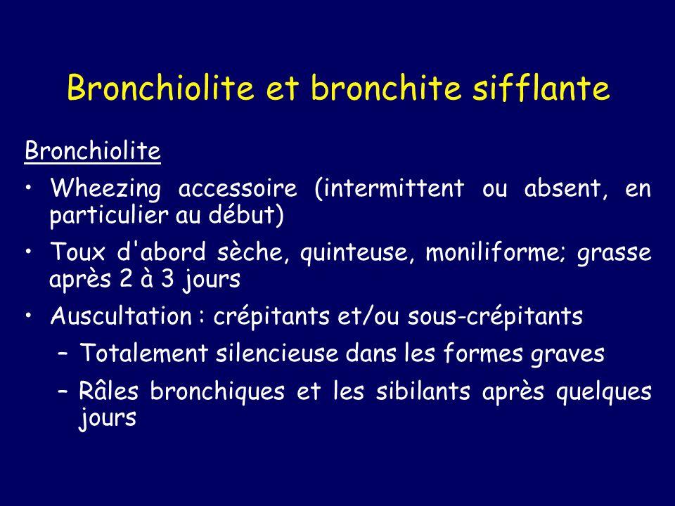 Bronchiolite et bronchite sifflante
